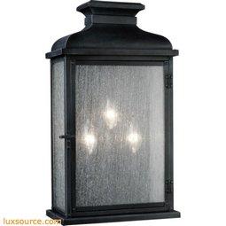 Pediment Light Outdoor Sconce - Small - 3 - Light