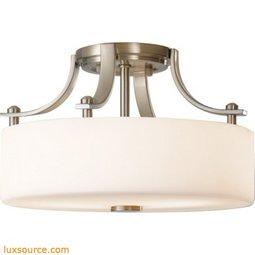 Sunset Drive Light Indoor Semi-Flush Mount - 2 - Light - White