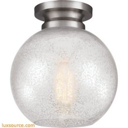 Tabby Light Flushmount - 1 - Light - Silver
