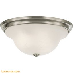 Vista Light Indoor Flush Mount - 1 - Light - White