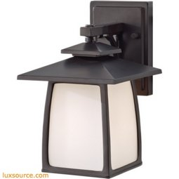 Wright House Light Outdoor Lantern - 1 - Light - Opal