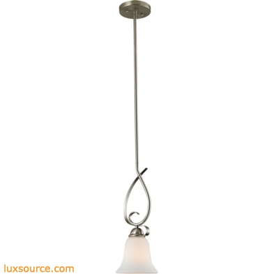 Brighton 1 Light Mini Pendant In Brushed Nickel