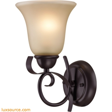 Brighton 1 Light Wall Sconce In Oil Rubbed Bronze