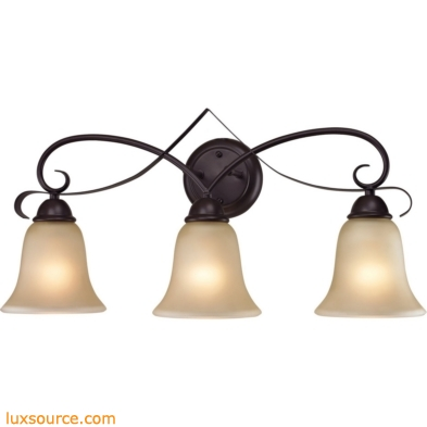 Brighton 3 Light Bath Bar In Oil Rubbed Bronze