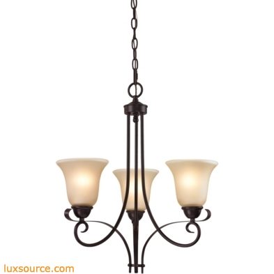 Brighton 3 Light Chandelier In Oil Rubbed Bronze