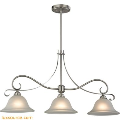 Brighton 3 Light Island In Brushed Nickel