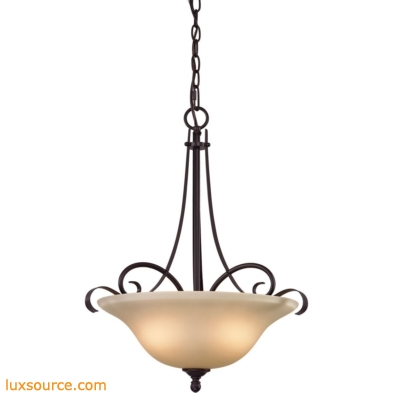 Brighton 2 Light Large Pendant In Oil Rubbed Bronze