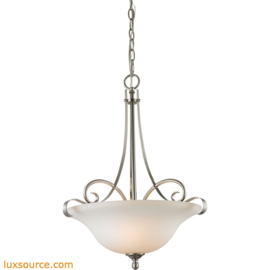 Brighton 2 Light Large Pendant In Brushed Nickel