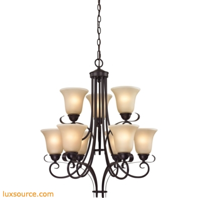 Brighton 9 Light Chandelier In Oil Rubbed Bronze