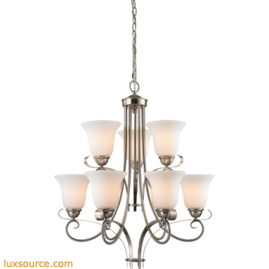 Brighton 9 Light Chandelier In Brushed Nickel