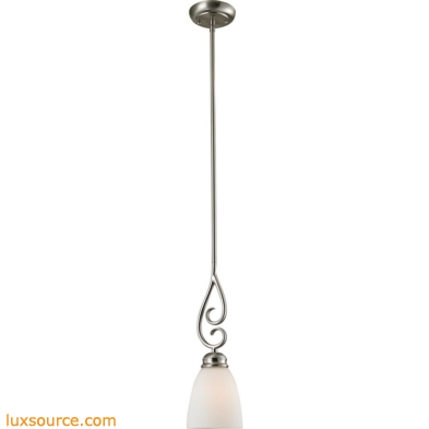 Chatham 1 Light Mini Pendant In Brushed Nickel 1101PS/20