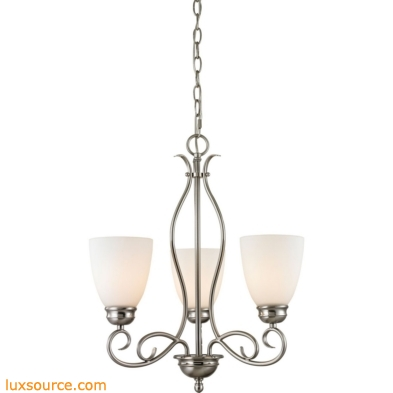 Chatham 3 Light Chandelier In Brushed Nickel 1103CH/20