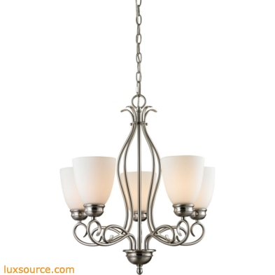 Chatham 5 Light Chandelier In Brushed Nickel 1105CH/20