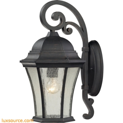 Wellington Park 1 Light Exterior Wall Mount In Weathered Charcoal
