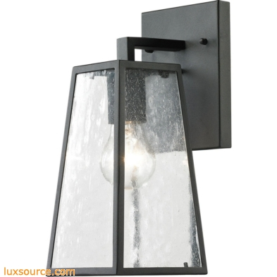 Mediterano 1 Light Exterior Wall Mount In Charcoal