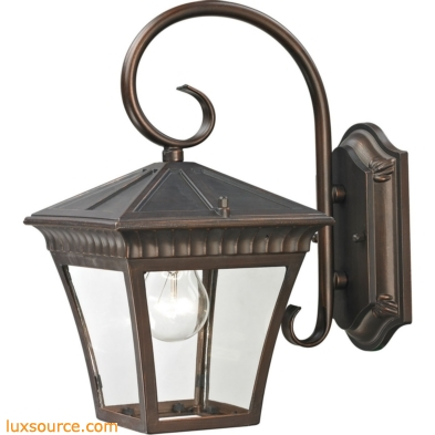 Ridgewood Coach Lantern In Hazelnut Bronze