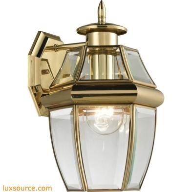 Ashford 1 Light Exterior Coach Lantern In Antique Brass