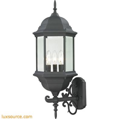 Spring Lake 3 Light Exterior Coach Lantern In Matte Textured Black