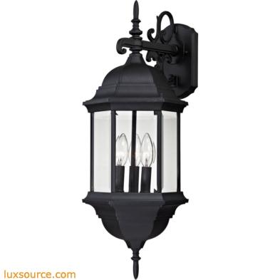 Spring Lake 3 Light Exterior Wall Lamp In Matte Black