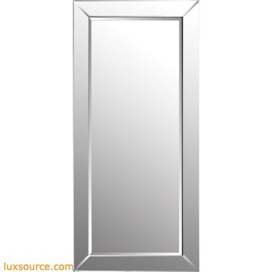 Glass Framed Leaning Floor Mirror