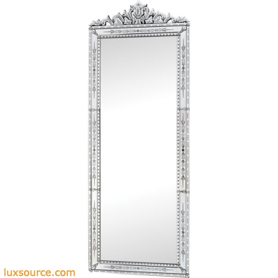 Camille 91-Inch Clear Glass Rectangular Wall Mirror