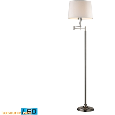 Swingarms - 1 Light LED Swingarm Floor Lamp In Polished Chrome