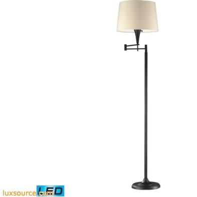 1 Light LED Swingarm Floor Lamp In Aged Bronze
