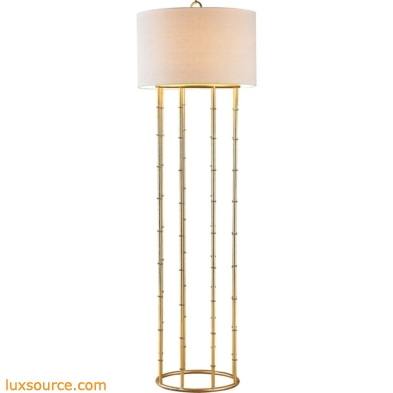 Brunei 1 Light Floor Lamp In Gold Leaf