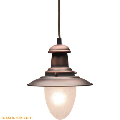 Railroad 1 Light Pendant In Antique Copper