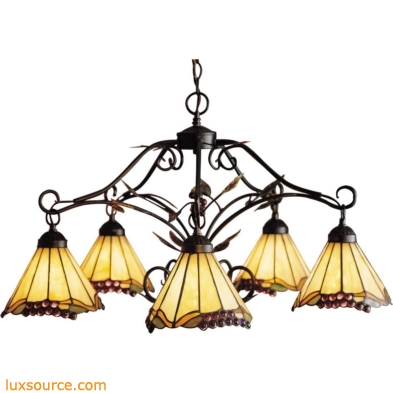 Grape Trellis 5 Light Chandelier In Antique Iron