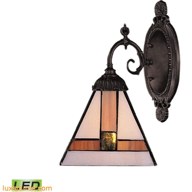 Mix-N-Match 1 Light LED Wall Sconce In Tiffany Bronze 071-TB-01-LED
