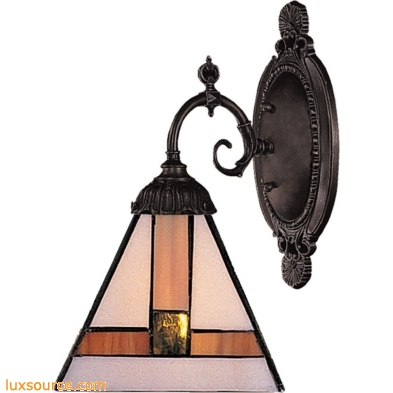 Mix-N-Match 1 Light Wall Sconce In Tiffany Bronze 071-TB-01