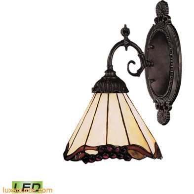Mix-N-Match 1 Light LED Wall Sconce In Tiffany Bronze And Honey Dune Glass 071-TB-03-LED