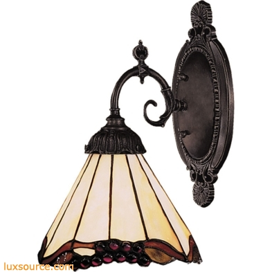 Mix-N-Match 1 Light Wall Sconce In Tiffany Bronze And Honey Dune Glass 071-TB-03