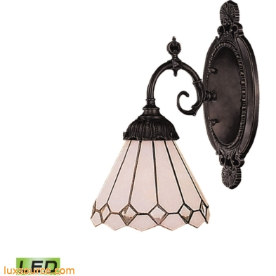 Mix-N-Match 1 Light LED Wall Sconce In Tiffany Bronze 071-TB-04-LED