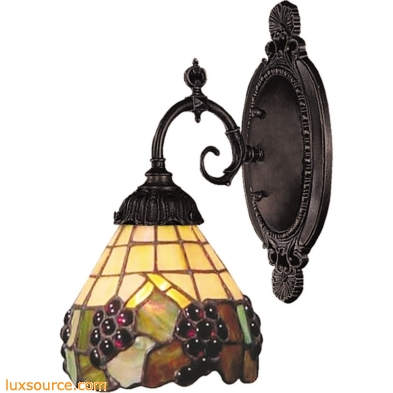 Mix-N-Match 1 Light Wall Sconce In Vintage Antique And Stained Glass 071-TB-07
