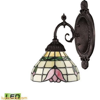 Mix-N-Match 1 Light LED Wall Sconce In Tiffany Bronze 071-TB-09-LED