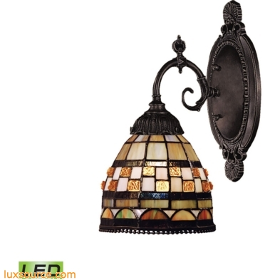 Mix-N-Match 1 Light LED Wall Sconce In Classic Bronze 071-TB-10-LED