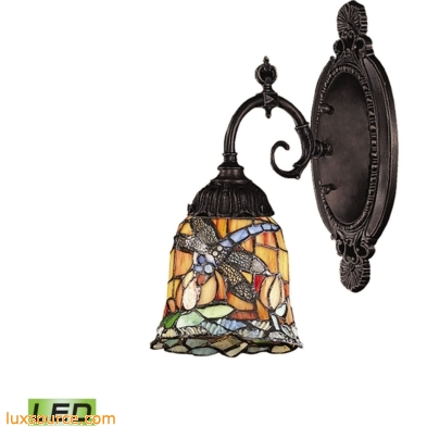 Mix-N-Match 1 Light LED Wall Sconce In Tiffany Bronze 071-TB-12-LED