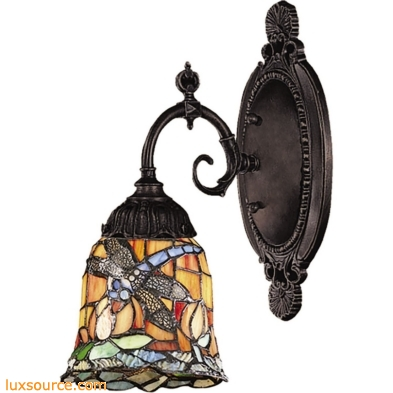 Mix-N-Match 1 Light Wall Sconce In Tiffany Bronze 071-TB-12
