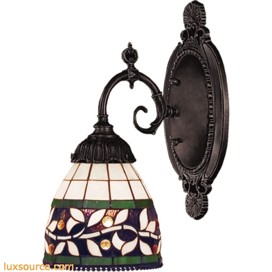 Mix-N-Match 1 Light Wall Sconce In Tiffany Bronze 071-TB-13