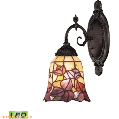 Mix-N-Match 1 Light LED Wall Sconce In Tiffany Bronze 071-TB-17-LED