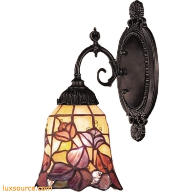 Mix-N-Match 1 Light Wall Sconce In Tiffany Bronze 071-TB-17