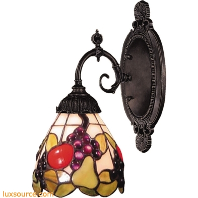 Mix-N-Match 1 Light Wall Sconce In Tiffany Bronze 071-TB-19