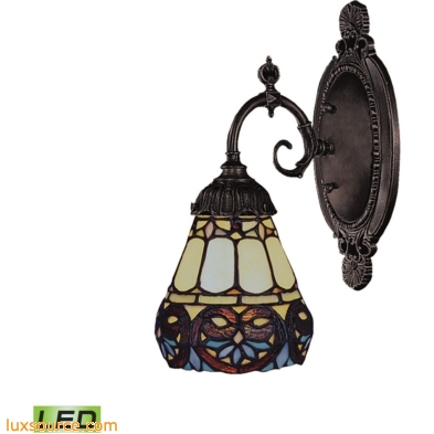 Mix-N-Match 1 Light LED Wall Sconce In Tiffany Bronze 071-TB-21-LED