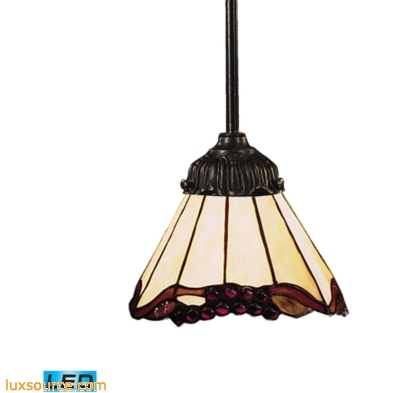 Mix-N-Match 1 Light LED Pendant In Tiffany Bronze And Honey Dune Glass 078-TB-03-LED