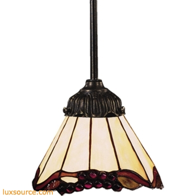 Mix-N-Match 1 Light Pendant In Tiffany Bronze And Honey Dune Glass 078-TB-03