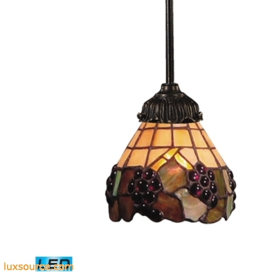 Mix-N-Match 1 Light LED Pendant In Vintage Antique And Stained Glass 078-TB-07-LED