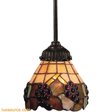 Mix-N-Match 1 Light Pendant In Vintage Antique And Stained Glass 078-TB-07