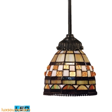 Mix-N-Match 1 Light LED Pendant In Classic Bronze 078-TB-10-LED